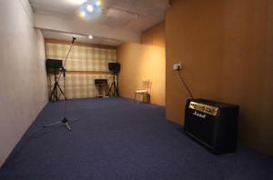 Recording room two at voltage studios
